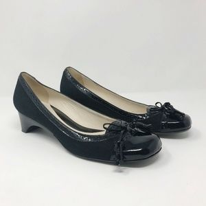 Arturo Chiang Loafer Heels Patent Leather Black